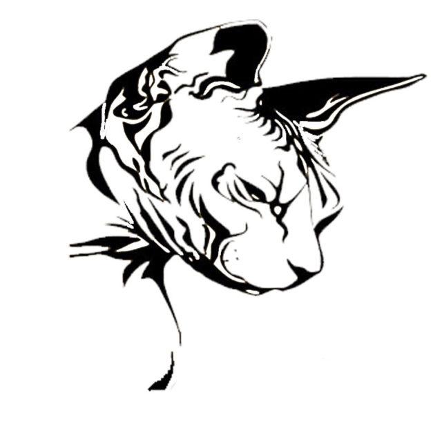 Sphynx Cat Head Car Sticker