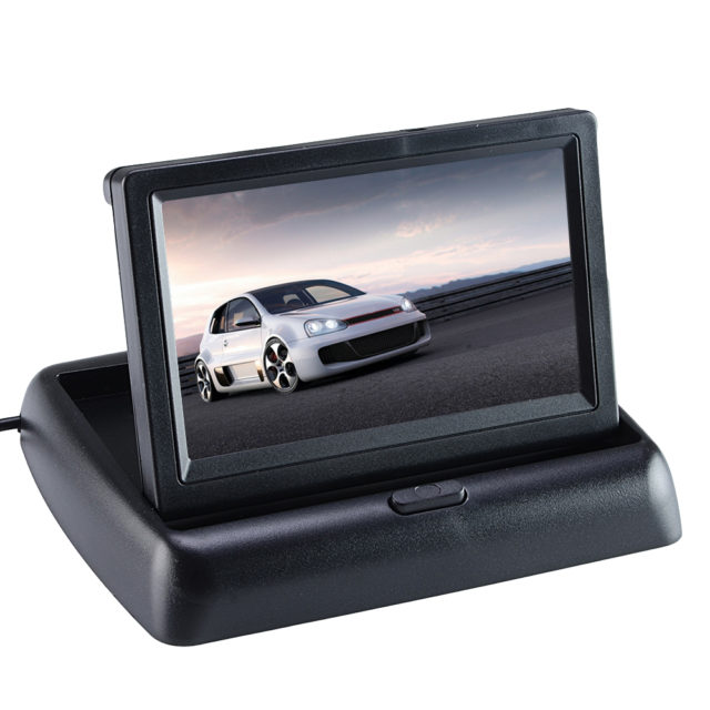 Foldable Car Monitor for Rear View